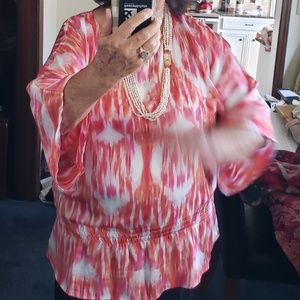CHICO'S SWEET MIRAGE HYPER PINK BLOUSE